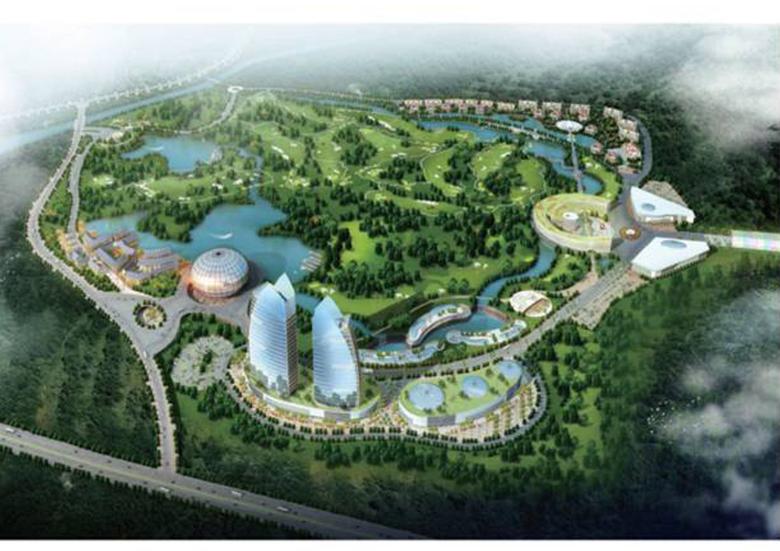 海口市高尔夫广场规划概念方案